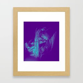 Subdued, teal Framed Art Print