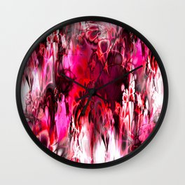 Marshmellow Skies (red) Wall Clock