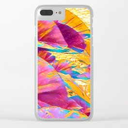 Taro Leaves in Rainbow Aloha Clear iPhone Case