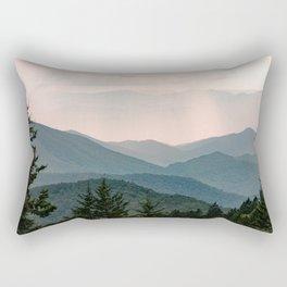 Smoky Mountain Pastel Sunset Rectangular Pillow