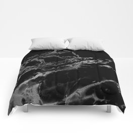 Back and guilded silver faux marble Comforters