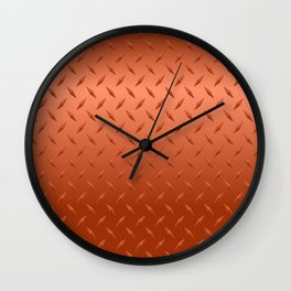 Copper Diamond Plate Wall Clock