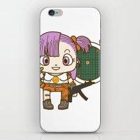 dragonball iPhone & iPod Skins featuring Bulma and the dragonball radar by Samtronika