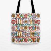 southwest Tote Bags featuring Southwest by Helene Michau