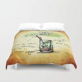 Mint Julep Duvet Cover