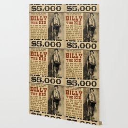 Billy The Kid Mug Shot Wanted Poster Mugshot West Cowboy Vintage Wallpaper