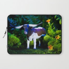 A Steer Cattle Cow at Night Laptop Sleeve