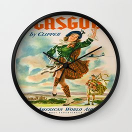Vintage poster - Glasgow Wall Clock