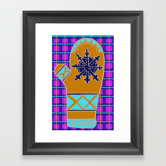 Cozy Up, Winter Cover Framed Art Print