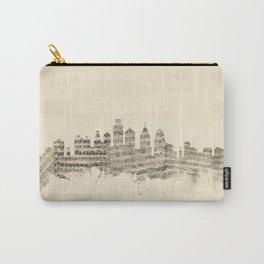 Philadelphia Pennsylvania Skyline Sheet Music Cityscape Carry-All Pouch