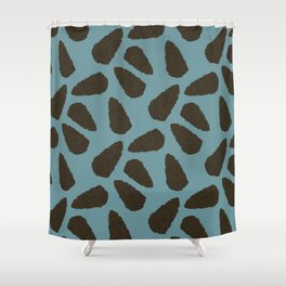 Tree Patterns: Teal Pinecones Shower Curtain
