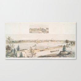 Vintage Pictorial View of Trenton NJ (1851) Canvas Print