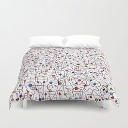 The Brain Number Three Duvet Cover
