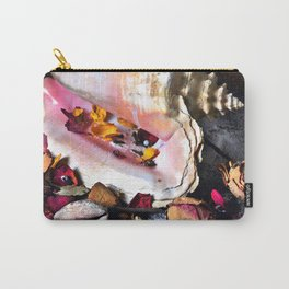 Maritime Symphony with Sea Shells and Roses Carry-All Pouch