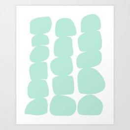 Aqua Stones Art Print