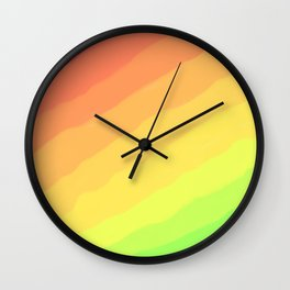 Happy Colorful Rainbow Stripes Wall Clock