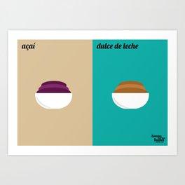 Açaí x Dulce de Leche Art Print