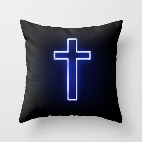 Metallic Cross Throw Pillow