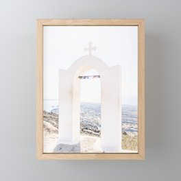 471. Top of Santorini, Greece Framed Mini Art Print