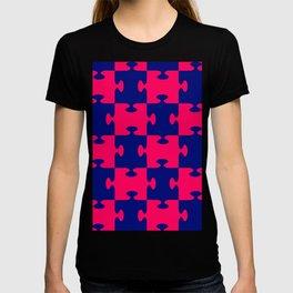jigsaw puzzle blue T-shirt