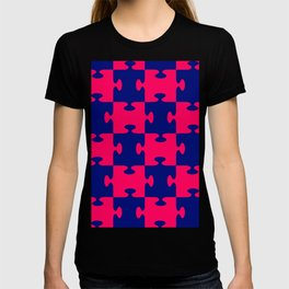jigsaw puzzle blue T-shirt