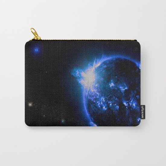 Blue Galaxy Star Carry-All Pouch