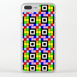 optical pattern 35 rainbow Clear iPhone Case