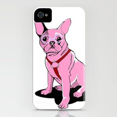 Frenchie_Pink iPhone (4, 4s) Slim Case