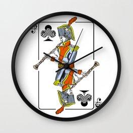 musical poker / Baroque oboe Wall Clock