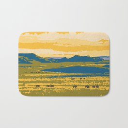Grasslands National Park Poster Bath Mat