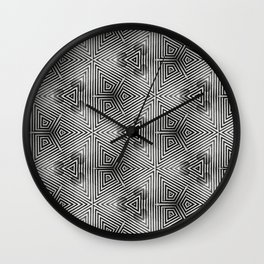 It's Alive! Black and White Op-art Wall Clock