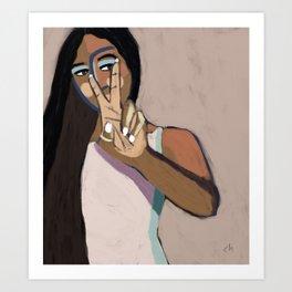 peace out Art Print