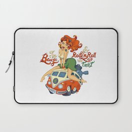 In Boogie and Rockn'roll we trust Laptop Sleeve