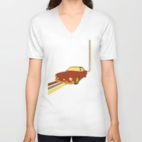70s V-neck T-shirts featuring 70s by Maestral