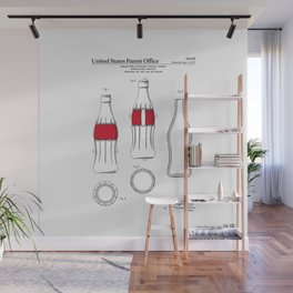 Soda Bottle Patent Wall Mural