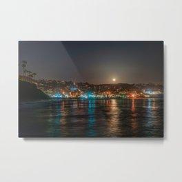 Moon Over Main Beach Metal Print