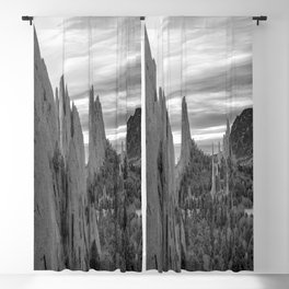 Garden of the Gods - Colorado Springs Landscape in Black and White Blackout Curtain