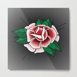 Tattoo Rose Metal Print