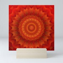 Muladhara chakra mandala Mini Art Print