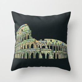 Colosseum Collage Throw Pillow