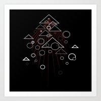 Tri.Dimension  Full Red Art Print