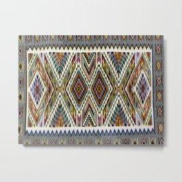 Navajo Rug - Tec No Pos Metal Print