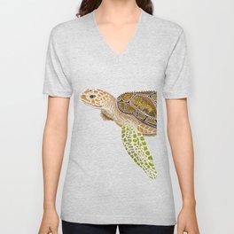 Sea Turtle, Reef Fish Unisex V-Neck