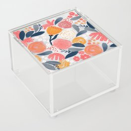 Modern Floral Painting Acrylic Box