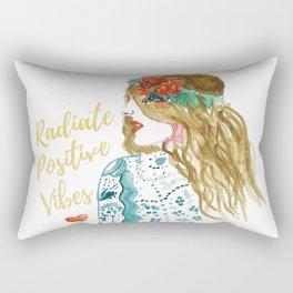 Radiate Positive Vibes Rectangular Pillow