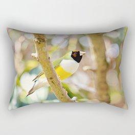 Peaceful Gouldian Rectangular Pillow