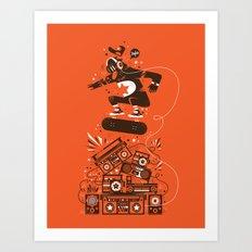 Skate and music Art Print
