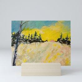 Trail in Deep Snow Mini Art Print