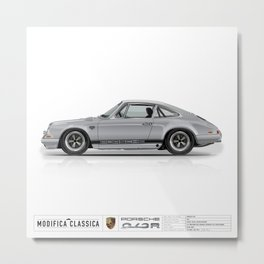 1967 Porsche 912R SILVER Metal Print