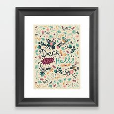 Deck the Halls Framed Art Print